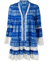 Blumarine プリント シャツドレス Blue