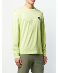メンズ Stone Island パッチ Tシャツ Green