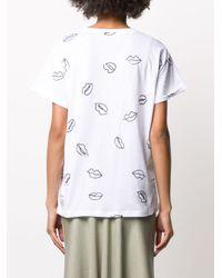 Être Cécile プリント Tシャツ White