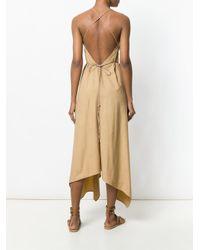Vestido Yatzil con cinturón Caravana de color Brown