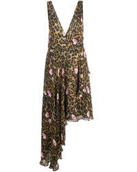 Vestito smanicato con stampa di Nicole Miller in Multicolor