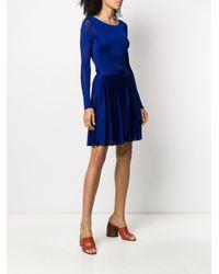 Dior 2000's プレオウンド プリーツ ドレス Blue