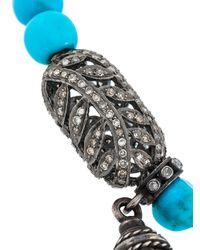 Loree Rodkin - Blue Turquoise Oxidized Sterling Silver and Diamond Bracelet - Lyst