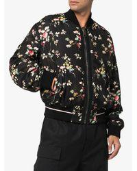 Chaqueta bomber con diseño floral Haider Ackermann de hombre de color Black