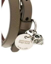 Alexander McQueen - Green Wrap Bracelet for Men - Lyst
