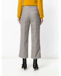 Erika Cavallini Semi Couture - Multicolor Plaid Cropped Trousers - Lyst