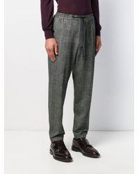 Pantaloni a quadri di PT01 in Gray da Uomo