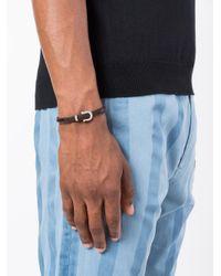 Ferragamo | Brown Woven Gancio Bracelet for Men | Lyst