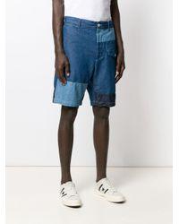 メンズ Engineered Garments コントラスト デニムショートパンツ Blue