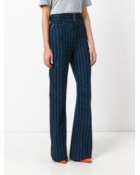 Marc Jacobs - Blue Wide Leg Star Trousers - Lyst