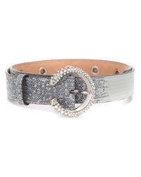 Ceinture Madeline à ornements en cristal Jimmy Choo en coloris Gray