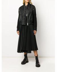 Sacai オーバーサイズ ボンバージャケット Black