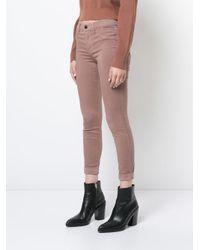J Brand Multicolor Cropped Skinny Jeans