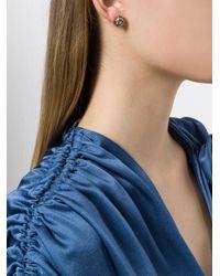 Bottega Veneta - Metallic Natural Antique Silver Stellular Stud Earrings - Lyst