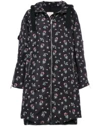 Moncler Black Narcissus A-line Duffle Coat