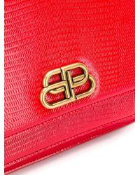 Balenciaga ロゴ ショルダーバッグ Red