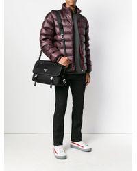 Prada - Black Logo Plaque Laptop Bag for Men - Lyst