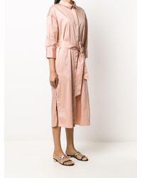 Altea ベルテッド シャツドレス Pink