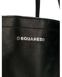 DSquared² Black Logo Tote Bag