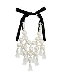 Moy Paris - White Large Beaded Necklace - Lyst