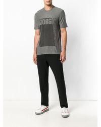 Printed T-shirt Giorgio Armani pour homme en coloris Gray
