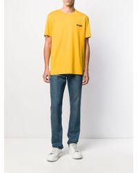 メンズ Moschino ロゴ Tシャツ Yellow