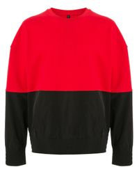 Sudadera con diseño colour block Neil Barrett de hombre de color Red