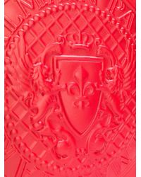 Balmain Red Logo Embellished Clutch Bag