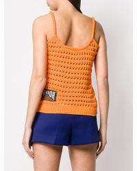 Top en maille Prada en coloris Orange