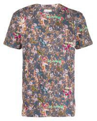 Camiseta con estampado floral Etro de hombre de color Blue