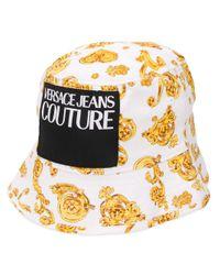 Versace Jeans ロゴ バケットハット Metallic