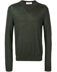 Pull à col v Pringle of Scotland pour homme en coloris Green