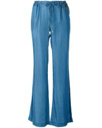 MICHAEL Michael Kors - Blue Drawstring Bellbottoms - Lyst