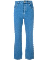 Chloé Scalloped Jeans in het Blue