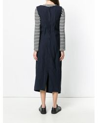 Comme des Garçons Black Crinkle Effect Long Shift Dress