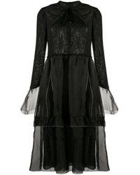 Renli Su ティアード ドレス Black