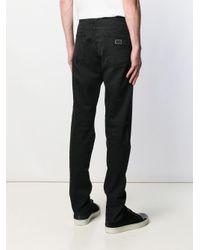Jean droit classique Dolce & Gabbana pour homme en coloris Black