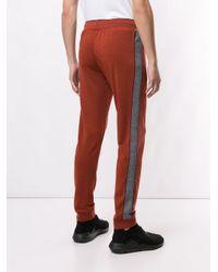 Pantaloni sportivi con righe laterali di Z Zegna in Red da Uomo