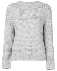Fabiana Filippi Gray Chunky Knit Sweater