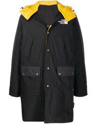 メンズ The North Face リバーシブル バイカラーフーデッドコート Black