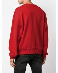 Sweat à logo contrastant Amiri pour homme en coloris Red