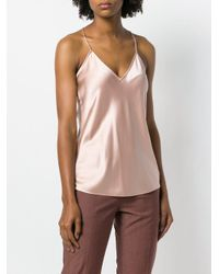 Theory Pink V-neck Slip Top