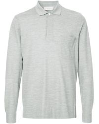 Cerruti 1881 Poloshirt mit langen Ärmeln in Gray für Herren