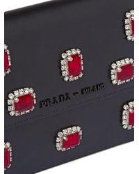 Borsa mini con decorazione di Prada in Black