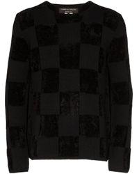 Comme des Garçons Black Checkerboard Print Jumper for men