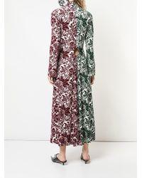 Rosie Assoulin コントラストパネル ドレス Multicolor