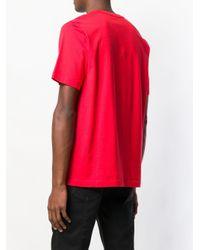 メンズ DIESEL スローガン Tシャツ Pink