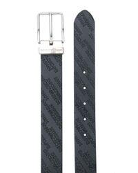 Cinturón con logo Emporio Armani de hombre de color Black