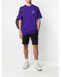 T-shirt con stampa di Palace in Purple da Uomo