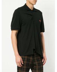 we11done ロゴ ポロシャツ Black